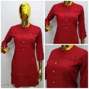 Aagam Ensemble Kurtis -Red