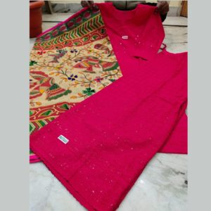 Beautiful Chikan Stiched Top With Dupatta