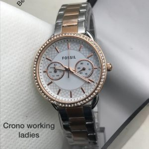 Fossil Branded Watch For Women (Silver)