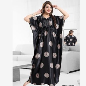 Kaftan Nighty Dress For Women-Black