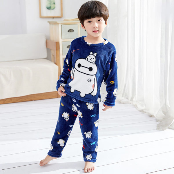 Kids Imported Nightwear Suit (2 To 8 Years) - Blue2