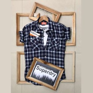 Superdry Check Shirt For Men (Grey)