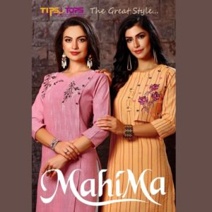 Tips & Tops Cotton Yarn Dyed Weaving Fabric Kurtis