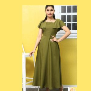 Adrika Alluring Women Dresses-Green