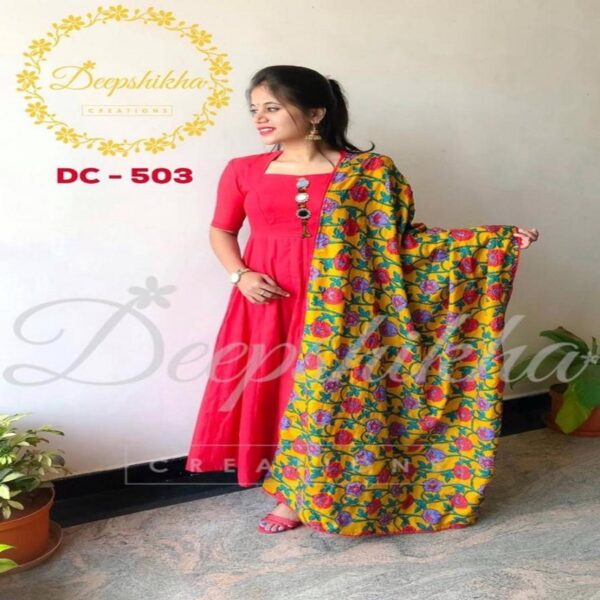 Beautiful Gown with dupatta