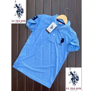 Branded U.S. Polo T-Shirt-Sky Blue
