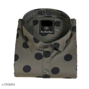 Classic Shirts For Men (Greenish Grey)