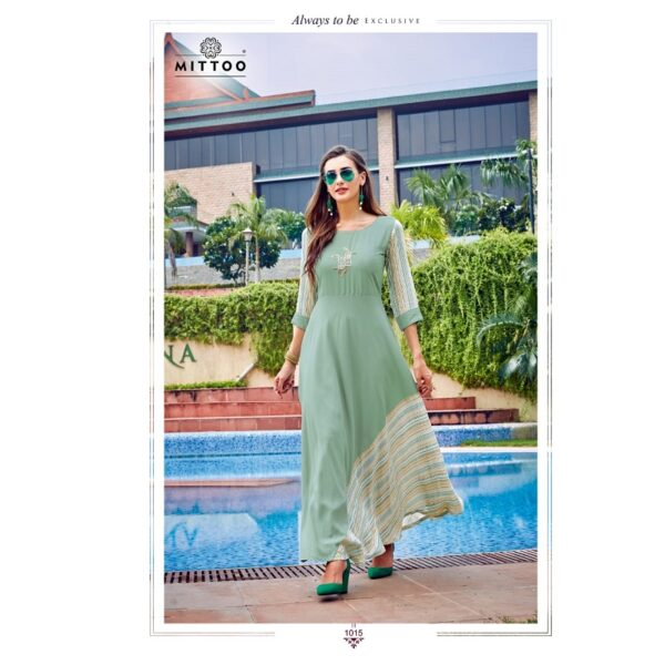 Mittoo Lahariya Long Flaired Gown For Women