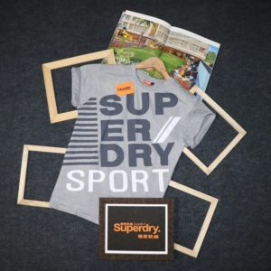 Superdry Round Half Sleeves T-Shirt For Men (Grey)