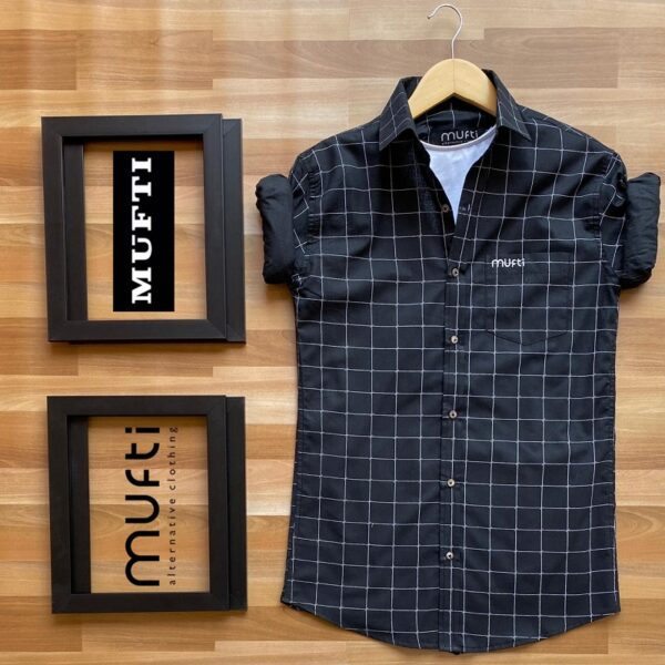 Trendy Mufti Branded Shirts For Men -BlackTrendy Mufti Branded Shirts For Men -Black