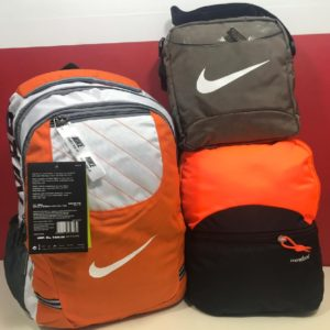 Trendy Nike Bagpack 3 PCs Combo Set-Orange