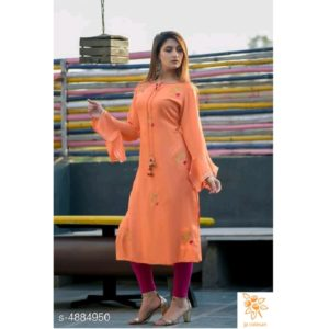 Aagyeyi Graceful Kurti Orange