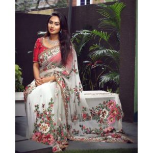 New Bollywood Heavy Georgette Saree