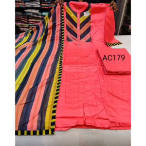 Cotton Suit by Good Quality World Pink