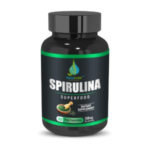 VedaPure Raw Spirulina Superfood for men & women Immunity & Energy Booster Improves Gut Health Boost Metabolism- 60 Capsules (2)
