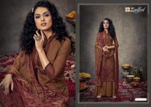 Zulfat Designer Suits by Good Quality World Brown