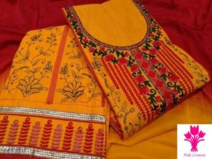 Adrika Fashionable Salwar Suits & Dress Materials by Siddhi Fashion Collection Orange
