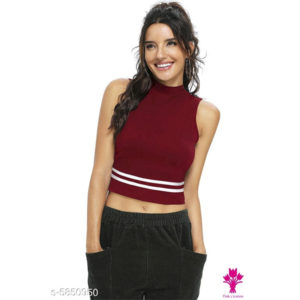 Classic Glamorous Women Crop Top by Siddhi Fashion Collection Maroon
