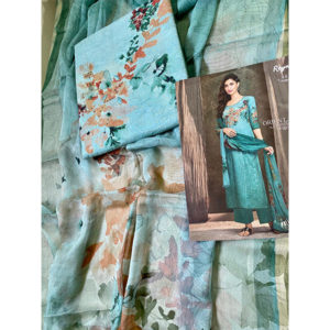 Ganga Reyna Orient Couture Suit by Good Quality World Sky Blue