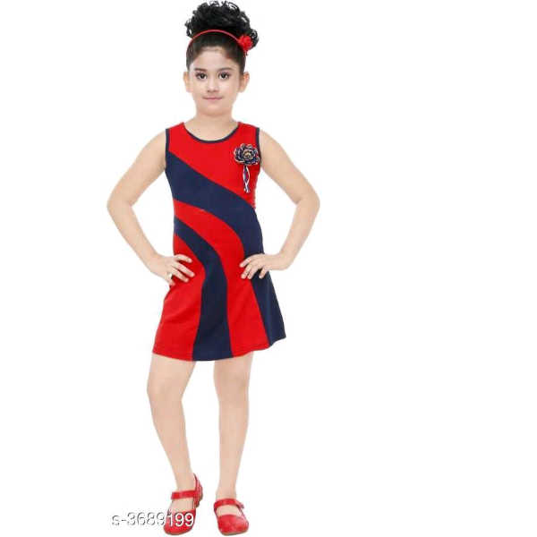 Adorable Kids Dresses By Hafsa Collection (Red 2)