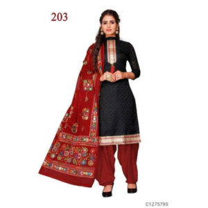 Authentic Cotton Dress Materials Jacquard Work On Top & Embroidered Dupatta By Hafsa Collection (dark Red)