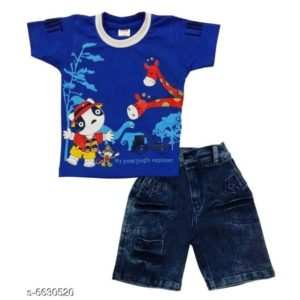 Boys Stylish Clothing Set By Hafsa Collection [Blue]