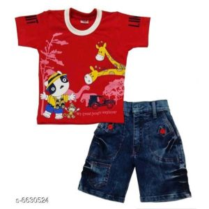 Boys Stylish Clothing Set By Hafsa Collection [Dark Red]