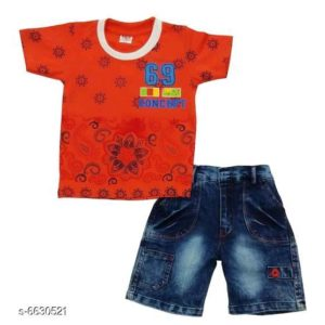 Boys Stylish Clothing Set By Hafsa Collection [Orange]