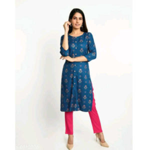 Charvi Graceful Women Kurta Sets By Hafsa Collection (Blue)