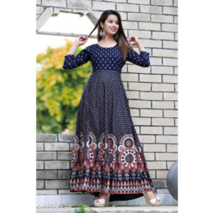 Divine Gorgeous Rayon Women Gown By Hafsa Collection