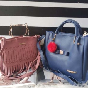 Gucci & Ted Baker Handbag Combo For Women By Best Variety (Rose Pink-Blue)