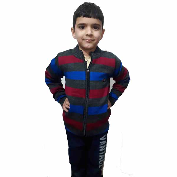Kids Stripped Sweater By RR Collection (Black-Blue)
