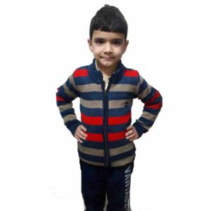Kids Stripped Sweater By RR Collection (Grey-Blue)