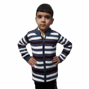 Kids Stripped Sweater By RR Collection (Grey-White)