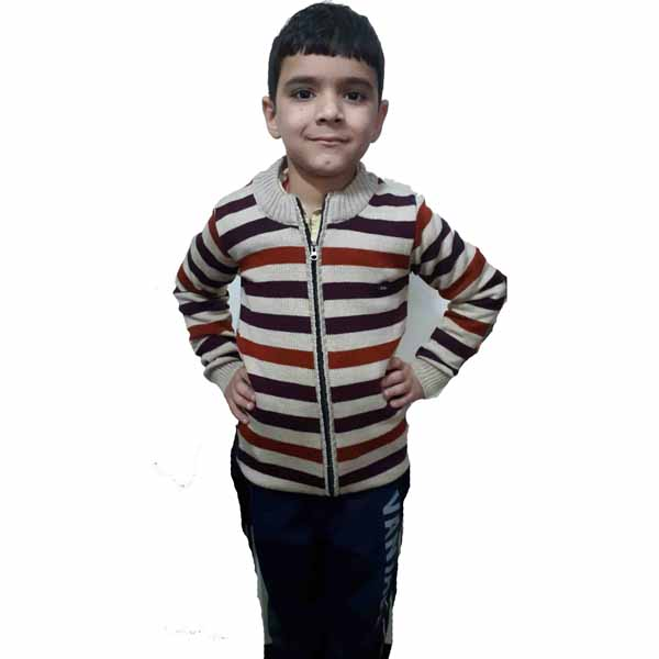 Kids Stripped Sweater By RR Collection (White-Brown)