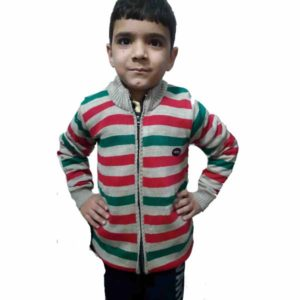 Kids Stripped Sweater By RR Collection (White-Green)