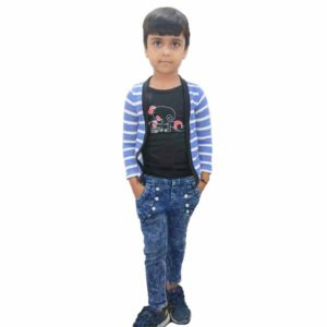 Kids T-Shirt Attached With Shrug By RR Collection