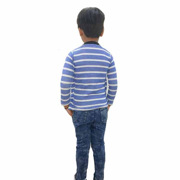 Kids T-shirt Attached With Shrug By RR Collection (Black & Blue)2