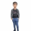 Kids T-shirt Attached With Shrug By RR Collection (Black & Grey)