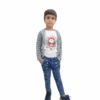 Kids T-shirt Attached With Shrug By RR Collection (Grey & White)