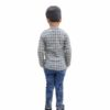 Kids T-shirt Attached With Shrug By RR Collection (Grey & White)2