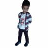 Kids T-shirt Attached With Shrug By RR Collection (Maroon & White)2