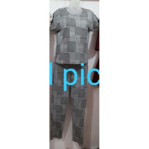 Lower & T-Shirt Set (Night Suit) For Women By Best Variety (Grey)