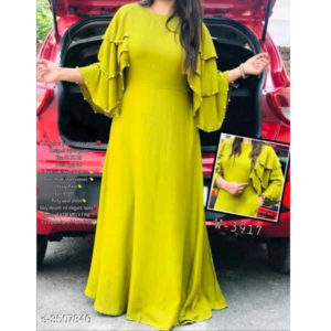 Siya Pure Rayon 14 Kg fashionable Gowns By Hafsa Collection
