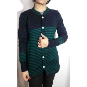 Women Woolen Cardigan By RR Collection (Blue & Green)