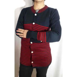 Women Woolen Cardigan By RR Collection (Blue & Red)