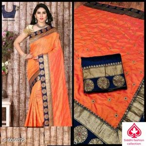 Aagam Drishya Sarees By Siddhi Fashion Collection (Peach)
