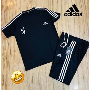 Adidas Combo T-Shirt, Shorts For Men By Sai Collection (Dark Blue)