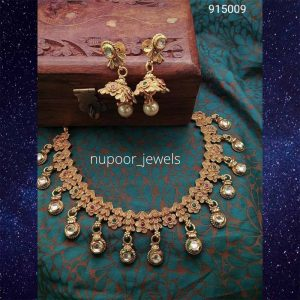 Antique Jewellery Set By Nupoor Jewels (Copper)