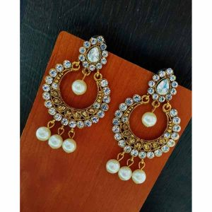 Artificial Earrings For Women By Shopping With Style (Silver2)